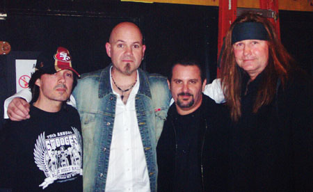 L-R: Gary, Dennis, Rich and Rick backstage at the Tattoo Rodeo concert - January 27, 2006 - Hollywood, CA